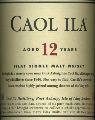 Whisky  Caol Ila Islay Single Malt 12 Years